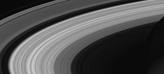 Photo of Saturn's rings